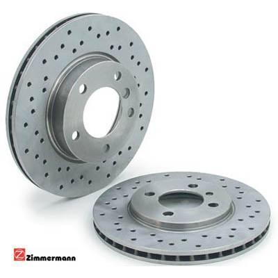 Zimmermann Sport Передние тормозные диски с перфорацией для VW Polo (2009+)/Golf 4/ Audi A1/ Fabia/ Leon (256x22mm)
