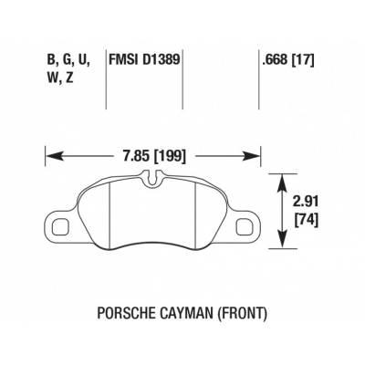 HAWK street 5.0  передние тормозные колодки для Porsche Cayman/Boxster (2009-2018)