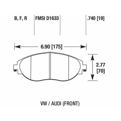 HAWK HPS передние тормозные колодки для VW Golf 7/ Passat/ AUDI A3 8V/Octavia A7/ Leon 5F (2012+)
